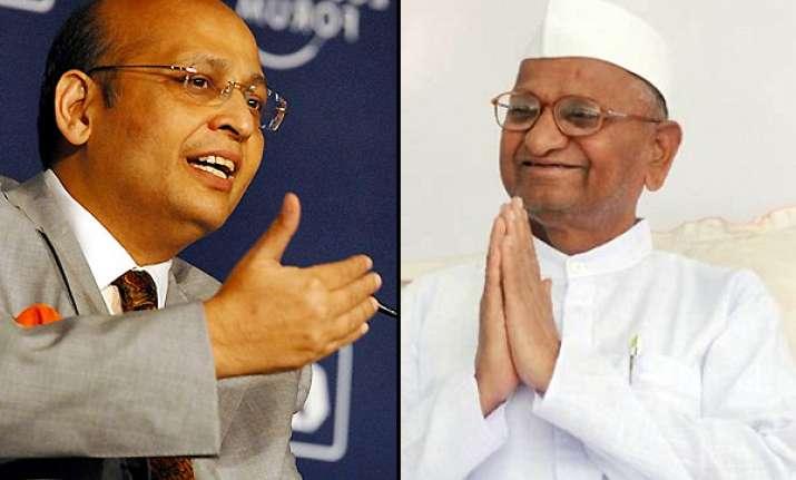 congress downplays conferment of mahatma title on hazare