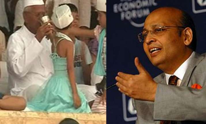 congress welcomes ending of fast by hazare