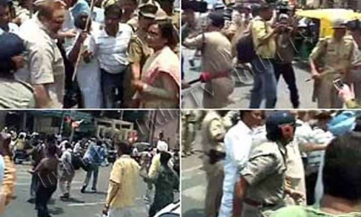 congress workers stage protests over rahul s arrest