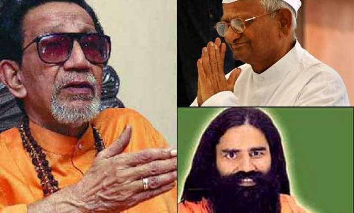 corporates behind anna ramdev campaigns says bal thackeray