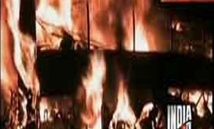 couple infant burnt alive in bus accident