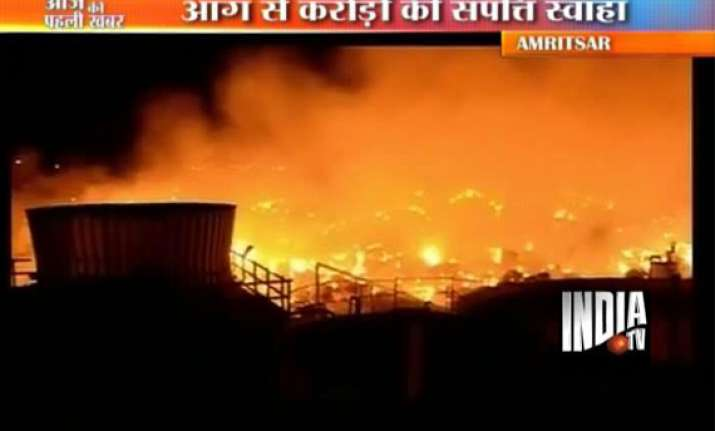 crores worth goods gutted in khanna paper mill fire