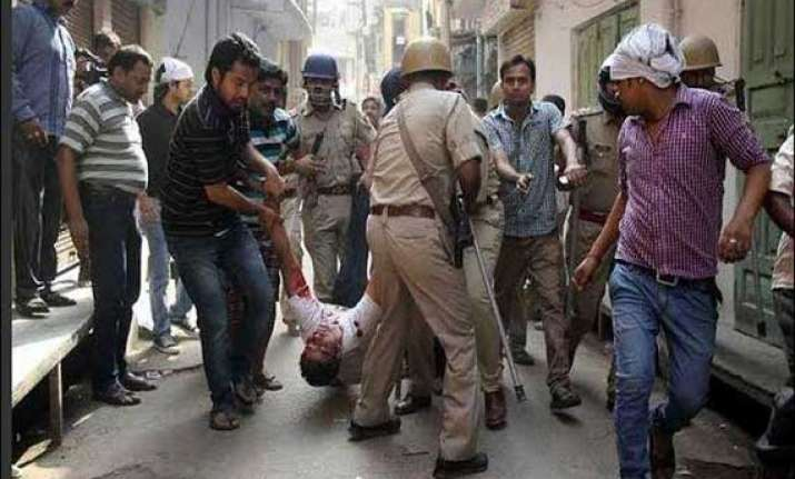 curfew in haryana town after communal violence