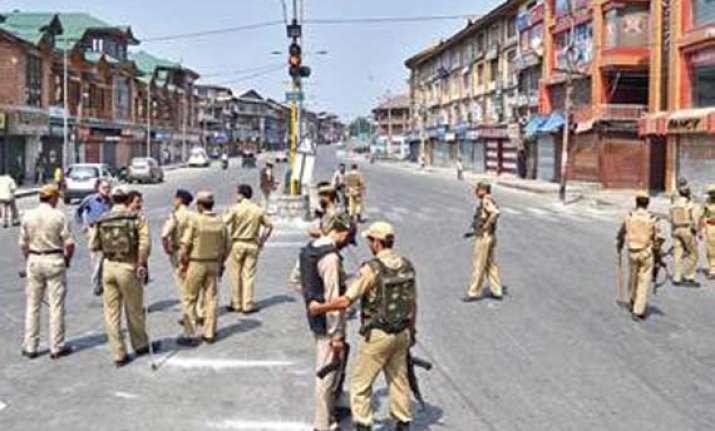 curfew in sopore separatist shutdown in srinagar