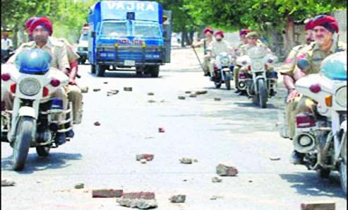 curfew in gurdaspur city