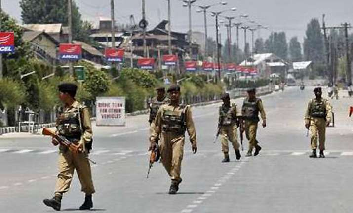 curfew in srinagar after clashes