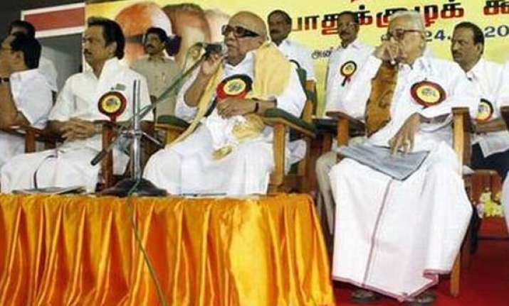 dmk scotches succession issue mum on ties with congress