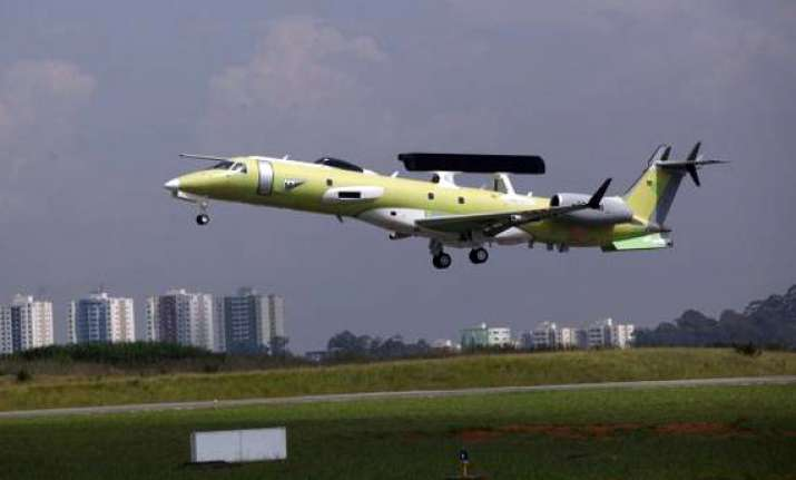 drdo test flies second indigenous aewacs aircraft in brazil