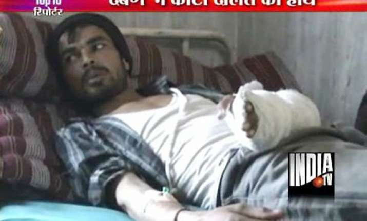 dalit man s hand chopped off for drinking water