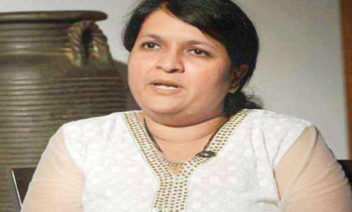 damania detained after protest by aap at ncp office in