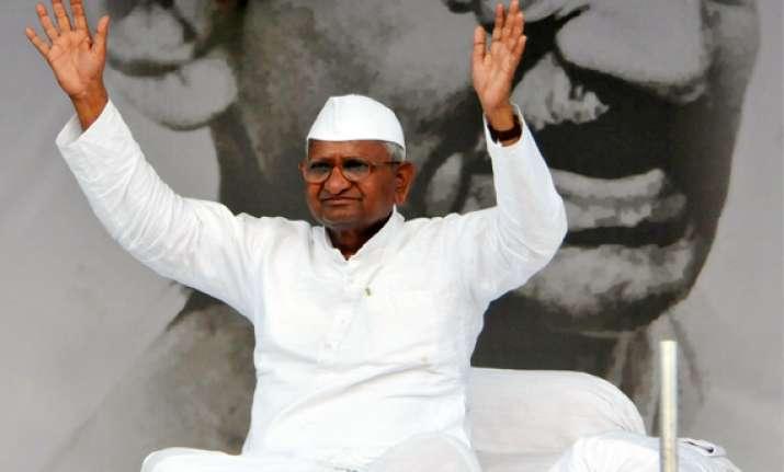 anna hazare asks govt to send representatives