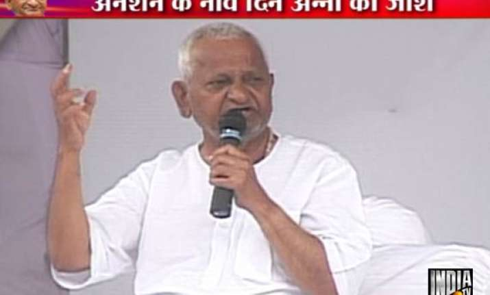 day 9 anna says fast will continue till 3 remaining demands
