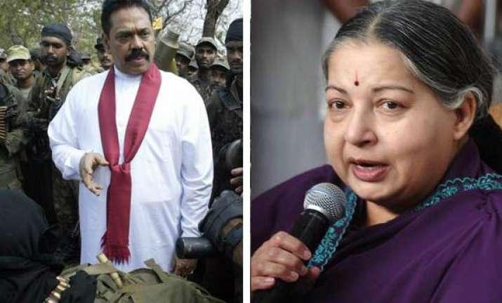 declare rajapakse a war criminal demands jayalalithaa