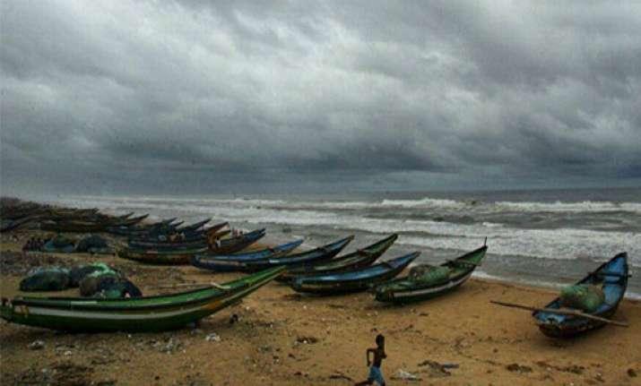 deep depression turns into cyclone phailin