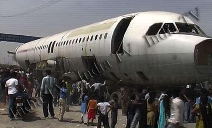 junk airbus bought by delhi scrap dealer reaches sai baba