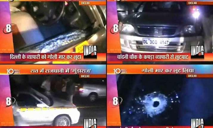 delhi businessman robbed of 1.4 lakh driver shot at