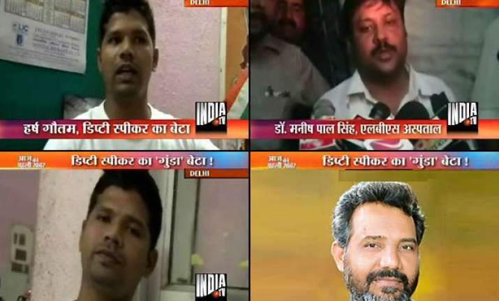delhi deputy speaker s son pulls up doctors after child