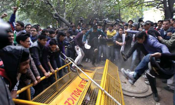 gangrape protests rage on in delhi