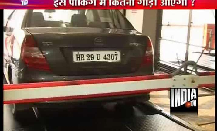 delhi s 2nd fully automated car parking facility inaugurated