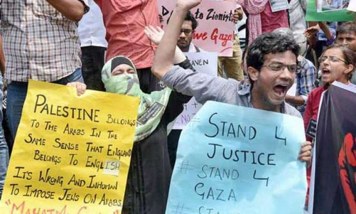 protest outside israel embassy several detained