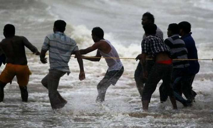 depression over bay of bengal odisha fishermen alerted