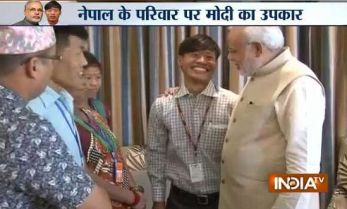 pm narendra modi reunites nepalese youth with parents after
