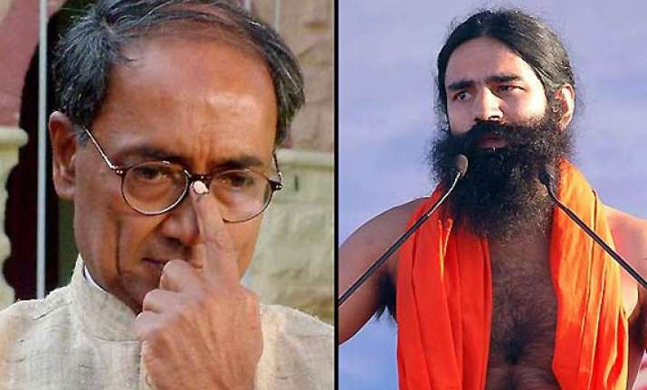 digvijay attacks ramdev for saying mayawati would be better