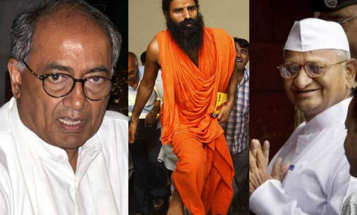 digvijay describes ramdev s fast as nautanki