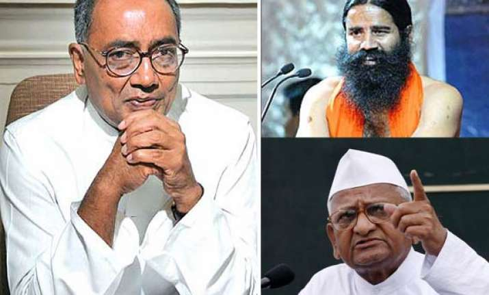 digvijay s googly hazare should not sit on frequent fasts
