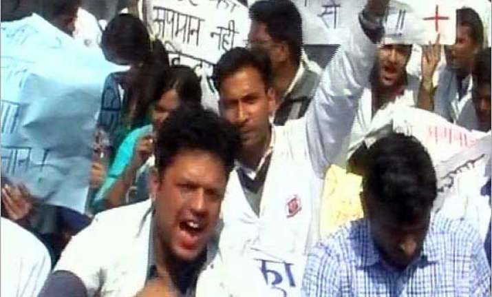 doctors in dehradun go on strike to express solidarity with
