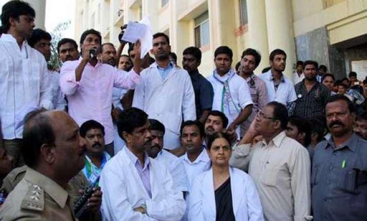 doctors strike in hyderabad s gandhi hospital continues