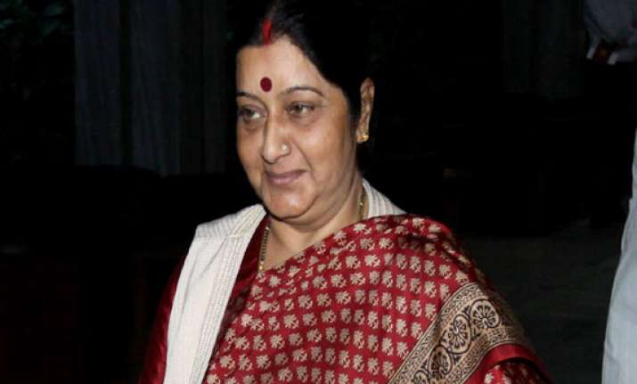 don t waste voting for aap sushma swaraj tells delhi voters