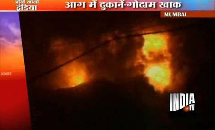 dozens of shops gutted in mumbai crawford market fire