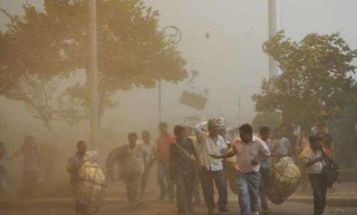 dust storm likely in delhi tonight