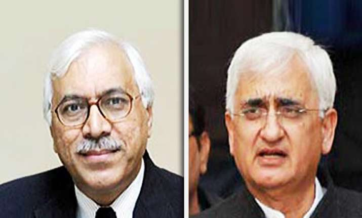 ec complains about khurshid president forwards letter to pmo