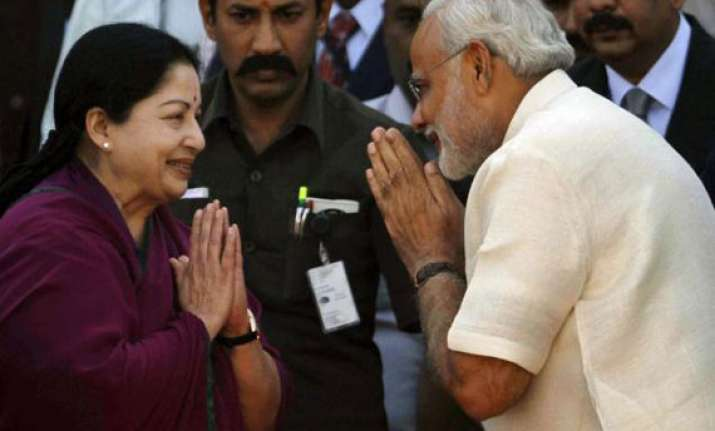 election barbs behind them modi and jayalalithaa talk on