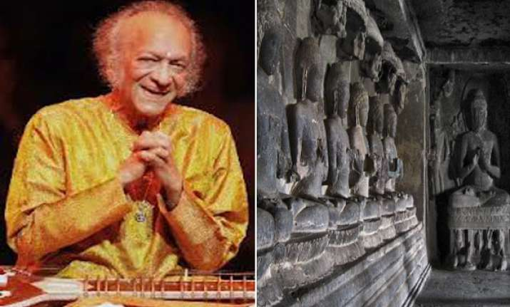 ellora caves world s best backdrop for pandit ravi shankar