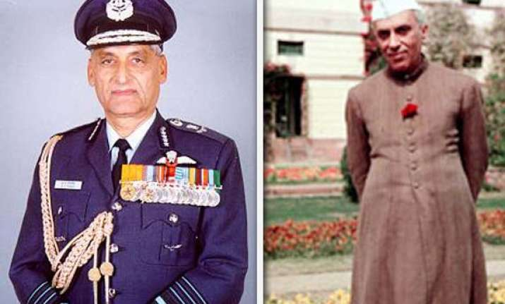 ex iaf chief tipnis blames nehru for defeat in 1962 china