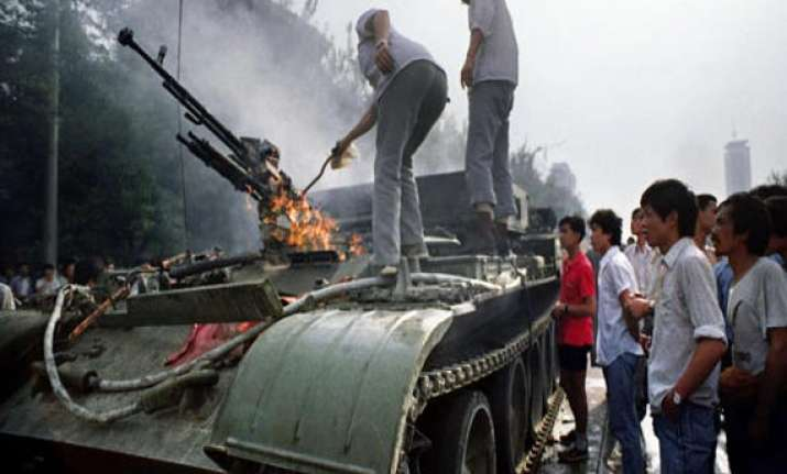 exiled tibetans screen docu film on tiananmen massacre by