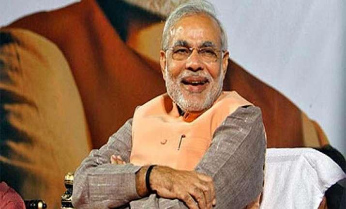 exit polls project modi led nda govt.