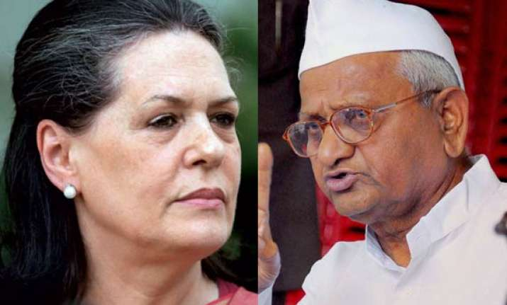 anna dubs lokpal bill as very weak dares sonia for public