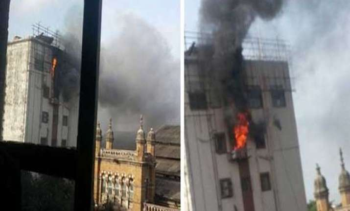 major fire at cst railway station building 35 evacuated no
