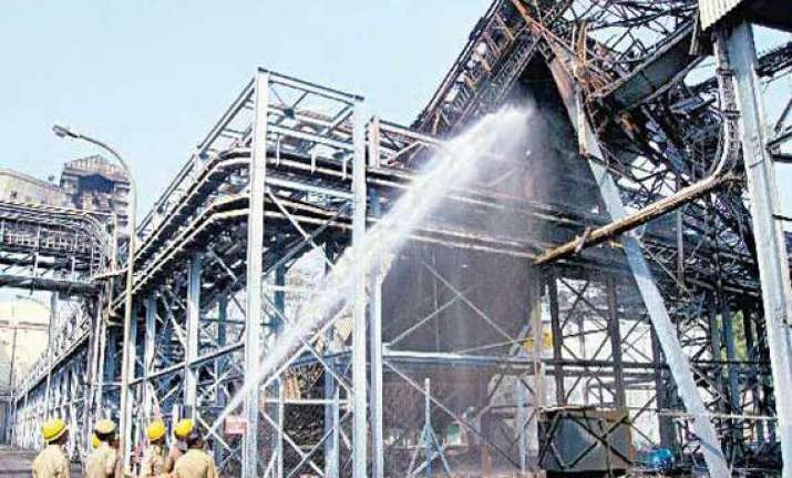 fire at kolaghat thermal power station