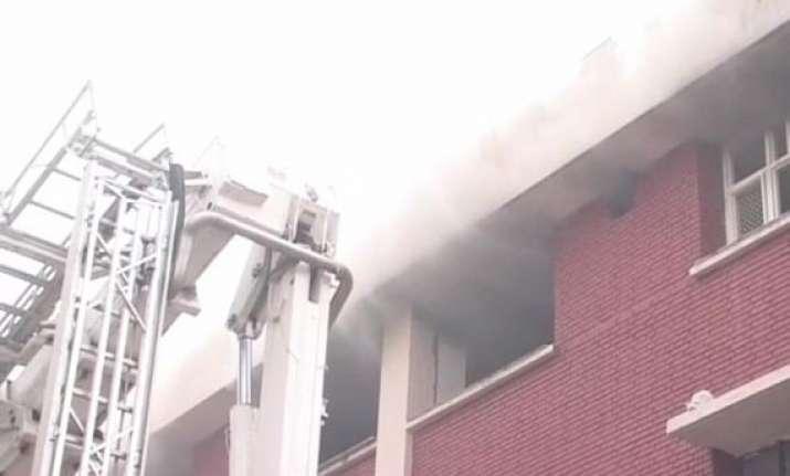 fire at shastri bhawan in delhi