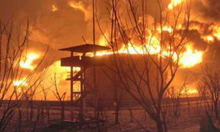 fire at illegal spurious oil depot