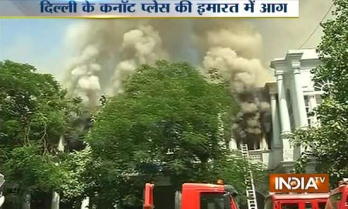 fire breaks out at rama building in delhi s connaught place