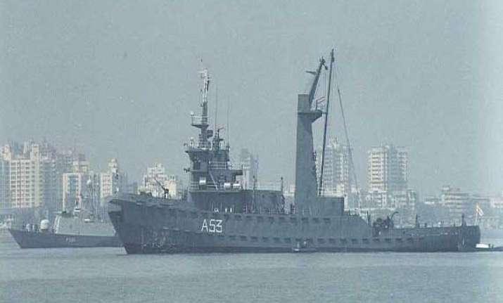 fire onboard naval ship matanga in mumbai dry dock navy