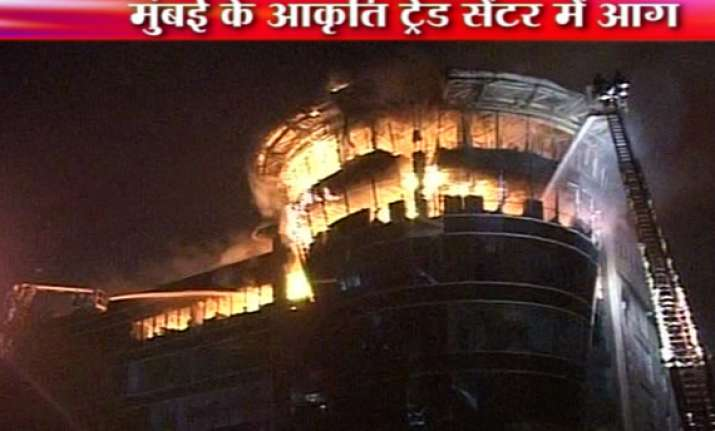 dozens of offices shops gutted in mumbai midc trade center