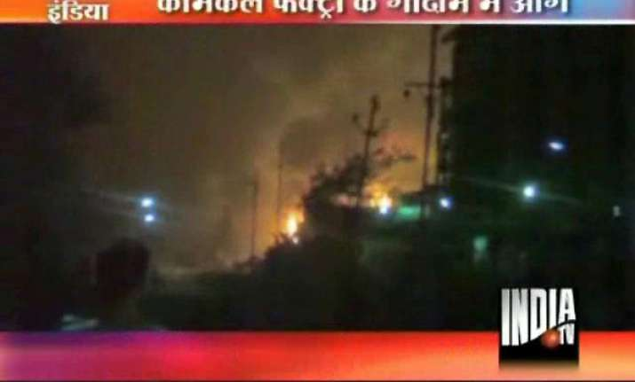 fire guts lakhs of rupees worth chemicals in navi mumbai