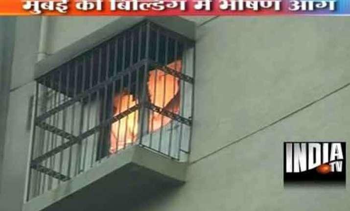 fire guts 19th floor of jolly maker building in south mumbai